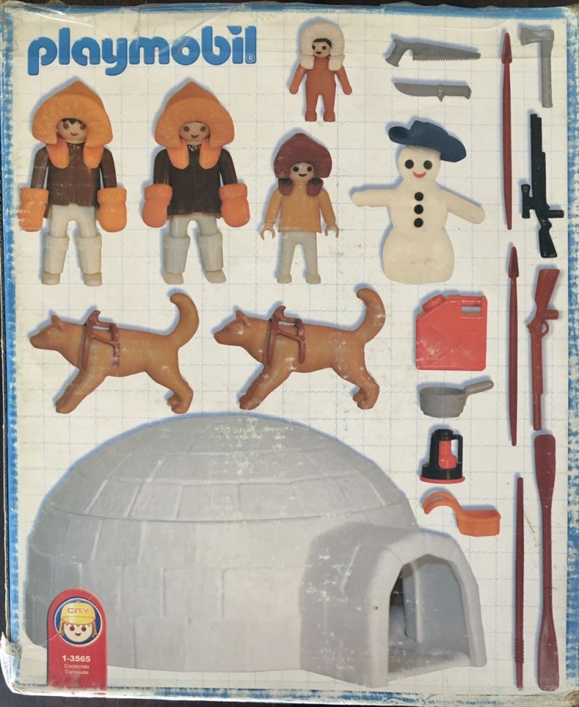 Playmobil 1-3565-ant - family of polar hunters with igloo - Back