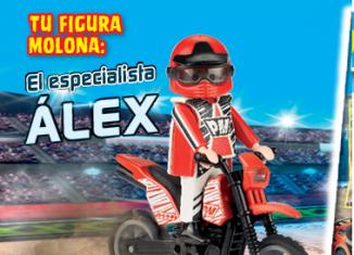 Playmobil - R056B-30795424 - Biker with motorcycle