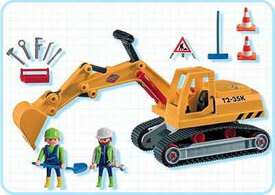 Playmobil 3001v1 - Excavator - Back