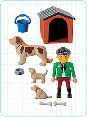 Playmobil 3005 - Man/Dog/Puppies - Back