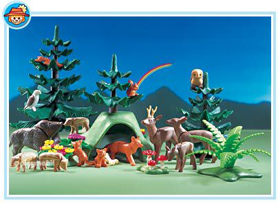 Playmobil set 3006 forest animals klickypedia for Piscine playmobil