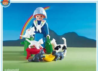 Playmobil - 3007 - Milkmaid / Cats