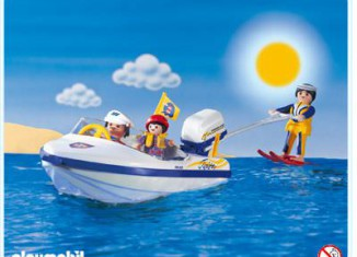 Playmobil - 3009 - Motorboat With Skier