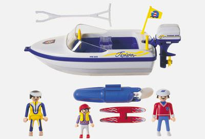 Playmobil 3009 - Motorboat With Skier - Back