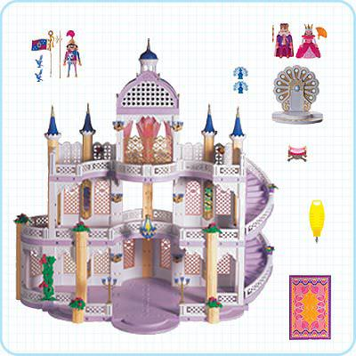 Playmobil 3019 - Dream Castle - Back