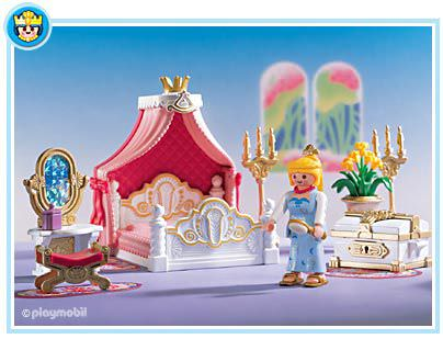 Playmobil set 3020 bedroom with canopy bed klickypedia for Chambre playmobil