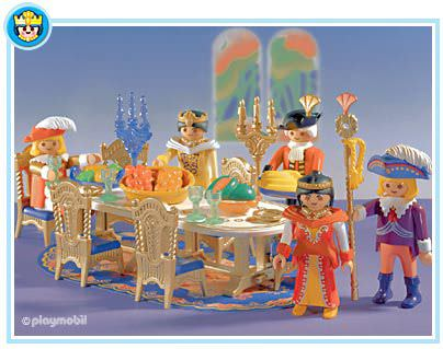 Playmobil set 3021 festive round table klickypedia for Table playmobil