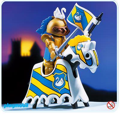 GOLDENER RITTER Playmobil 3024 v.`98 zu GOLD KNIGHT Schwanritter Turnier OVP NEU