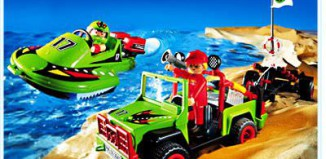 Playmobil - 3041 - Jeep with Speedboat