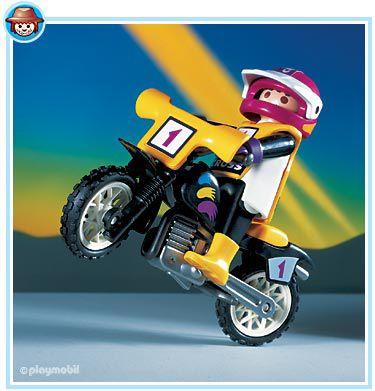 Playmobil set 3044 moto cross rider klickypedia - Moto cross playmobil ...