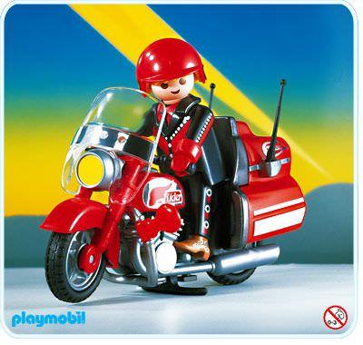 Playmobil set 3062 highway motorcycle klickypedia - Moto cross playmobil ...