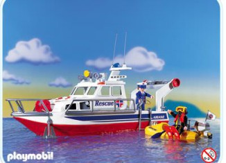 Playmobil - 3063 - Rescue Boat W. Flashlight
