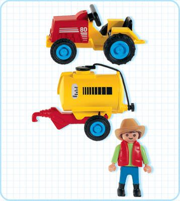 ... Playmobil 3066 - Child's Tractor - Back