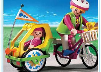Playmobil - 3068 - Fahrrad mit Kinderanhänger