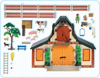 Playmobil 3072 - Farm - Back
