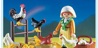 Playmobil - 3076 - Lady With Chickens