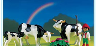 Playmobil - 3077 - Cows with Boy