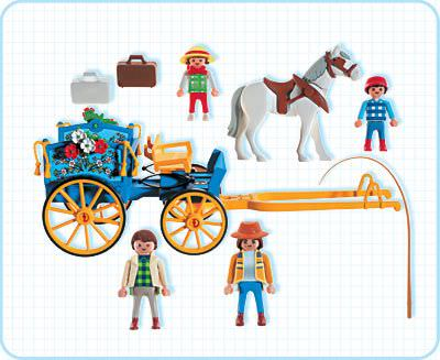 Playmobil 3117v1 - Horse & buggy - Back
