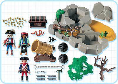 Playmobil 3127 - pirates superset - Back