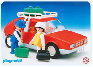 Playmobil - 3139v1 - Red Family Car