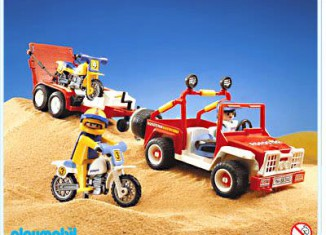Playmobil - 3143v1 - Jeep with dirtbikes