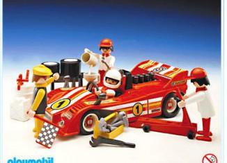Playmobil - 3147 - Red Racecar And Crew