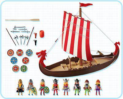 Playmobil 3150s2 - Viking Longboat - Back