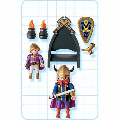 Playmobil 3154 - Norse King and Prince - Back
