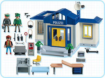 Playmobil 3159s2 - Police Station with Jail - Back