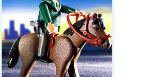 Playmobil - 3163 - Policeman / Horse