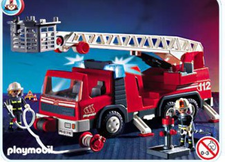 Playmobil - 3182s2 - Firemen / Ladder Truck