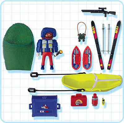 Playmobil 3194 - Polar researcher with sled - Back