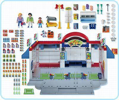 Playmobil 3200s2 - Supermarket - Back
