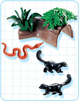 Playmobil 3226s2 - Skunks - Back