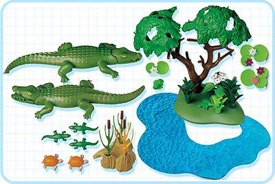 Playmobil 3229s2 - Alligators Habitat - Back