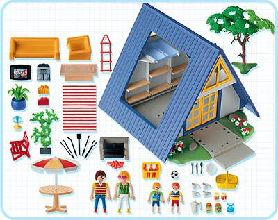 Playmobil 3230s2 - Family Vacation Home - Back