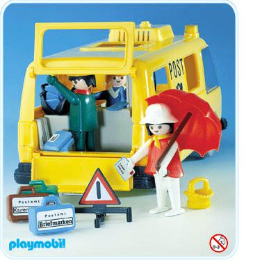 Playmobil set 3235s1 postal van klickypedia for Playmobil post