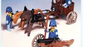Playmobil - 3244s1v1 - US artillery cannon and cart