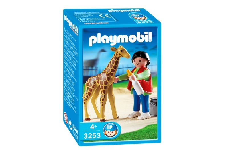 Playmobil 3253s2 - Baby Giraffe with Zookeeper - Box