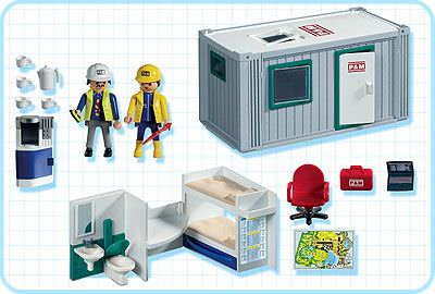 Playmobil 3260s2 - Construction Crew's Office - Back