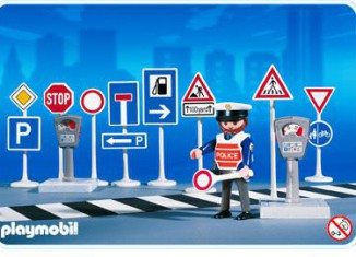 Playmobil - 3273s2 - Traffic Signs With Police
