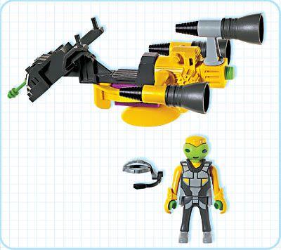 Playmobil 3281s1 - Alien Hovercraft - Back