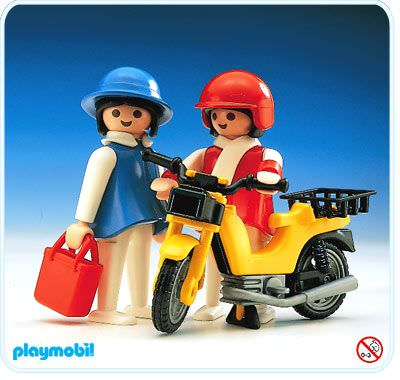 Playmobil set 3302 ladies with moped klickypedia for Playmobil post