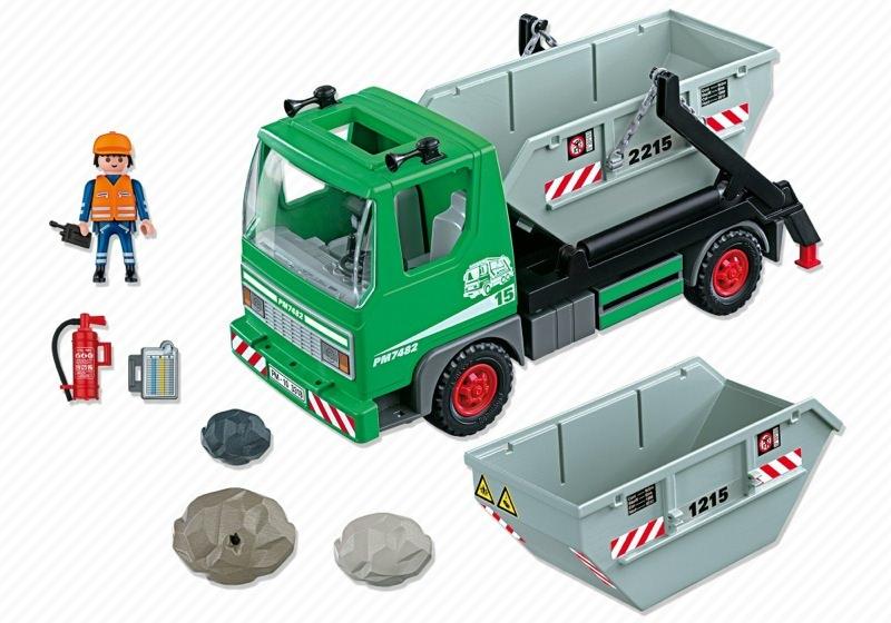 Playmobil 3318 - Skip Truck - Back