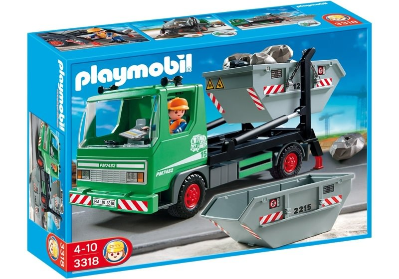 Playmobil 3318 - Skip Truck - Box