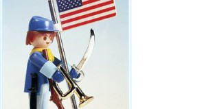 Playmobil - 3354 - US soldier & flag