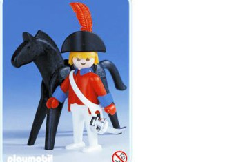 Playmobil - 3387-fam - redcoat officer / horse