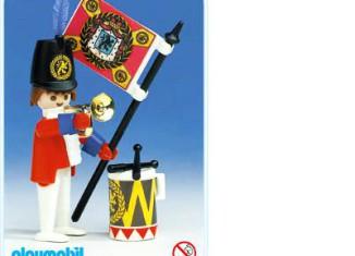 Playmobil - 3388 - redcoat guard / flag