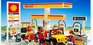 Playmobil - 3437v2 - Shell Gas Station