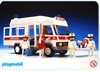 Playmobil - 3456s2 - Ambulance With White Roof
